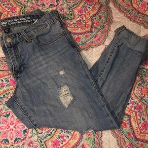 Boyfriend blue jeans!